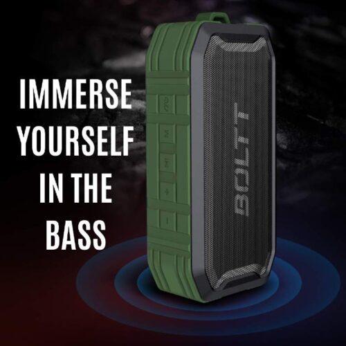 Boltt Fire Boltt Xplode 1500 Portable Bluetooth Outdoor Speaker IPX7 Waterproof Weatherproof with Enhanced Bass Green 9