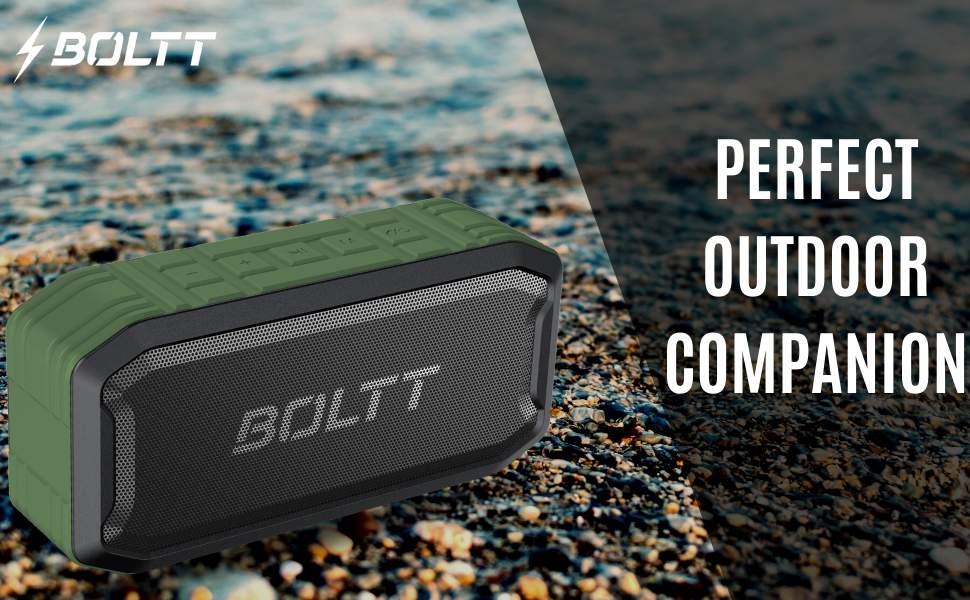 Boltt Fire Boltt Xplode 1500 Portable Bluetooth Outdoor Speaker IPX7 Waterproof Weatherproof with Enhanced Bass Green