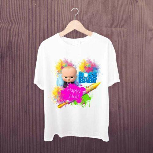 Boss Baby Happy Holi Kids Tshirt