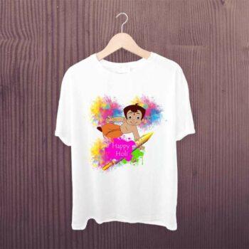 Chota Bheem Tshirt - Happy Holi Kids Tshirt