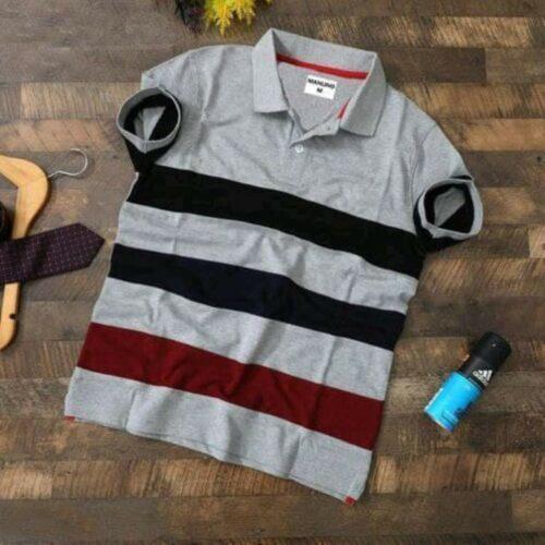 Cotton Solid Polo Tshirt
