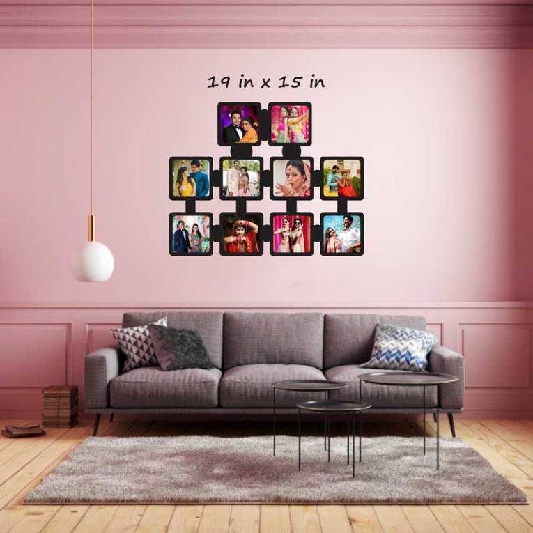 Customized 10 Photo Collage Wooden Birthday Frame 1
