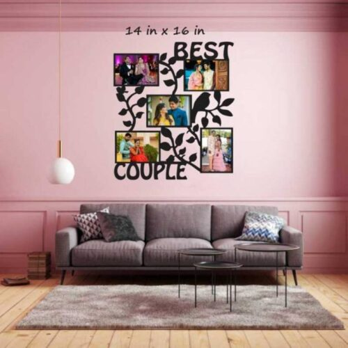 Customized Best Couple Photo Frame Wooden 1