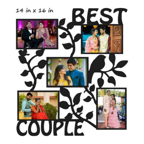 Customized Best Couple Photo Frame (Wooden)
