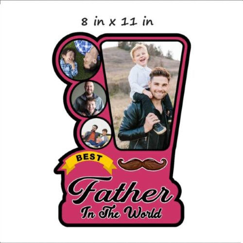 Customized Best Father Photo Frame Wooden 3