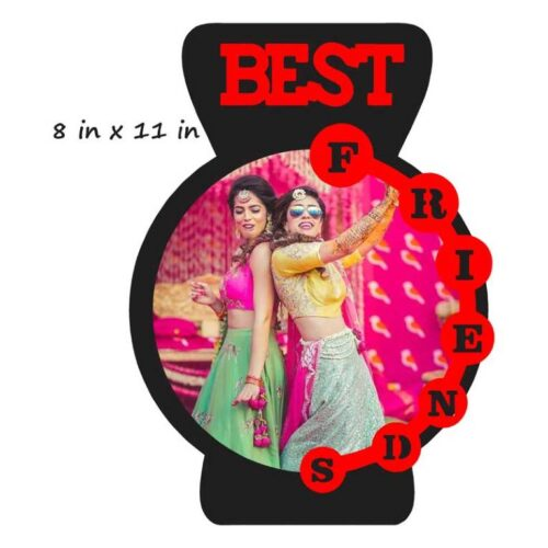 Customized Best Friend Photo Stand (Wooden)