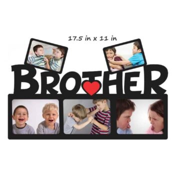 Customized Brother Photo Frame - Best Wooden Photo Frame For Brother (17.5 in x 11 in)