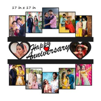 Customized Happy Anniversary Photo Frame (17 in x 17 in)