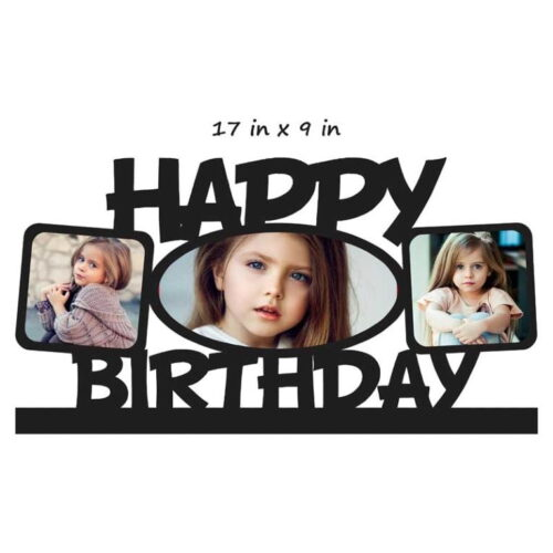 Customized Happy Birthday Photo Frame (17 in x 9 in) Wooden Mdf Frame