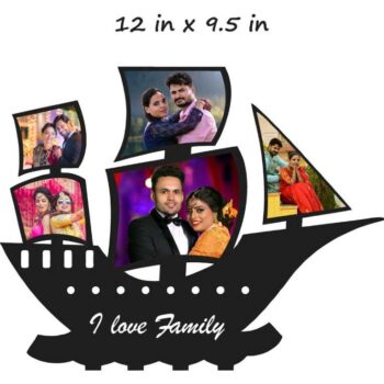 Customized I Love Family Photo Frame (Wooden) 12 in x 9.5 in