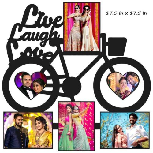 Customized Live Laugh Love Photo Frame (Wooden) 17.5 in x 17.5 in