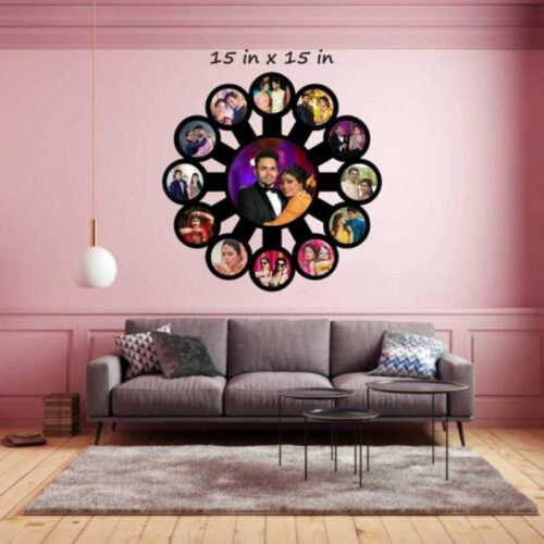 Customized Love Family Big Photo Frame Wooden 15 in x 15 in 1
