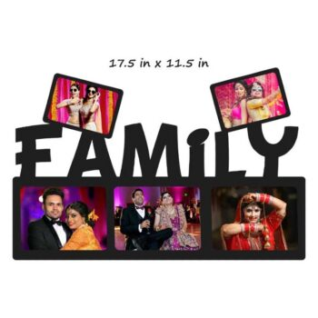 Customized My Family Photo Frame (Wooden) 17.5 In x 11.5 In