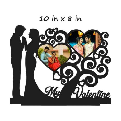 Customized My Valentine Table Photo Stand (Wooden) 10 In x 8 In
