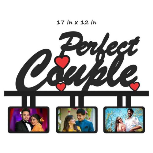 Customized Perfect Couple Photo Frame (MDF Wooden) 17 In x 9 In