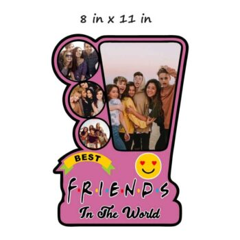 Customized Photo Frame Best Friends (Wooden)