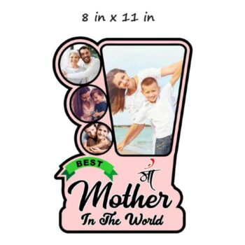 Customized Photo Frame For Mother - Best Mother Wooden Frame