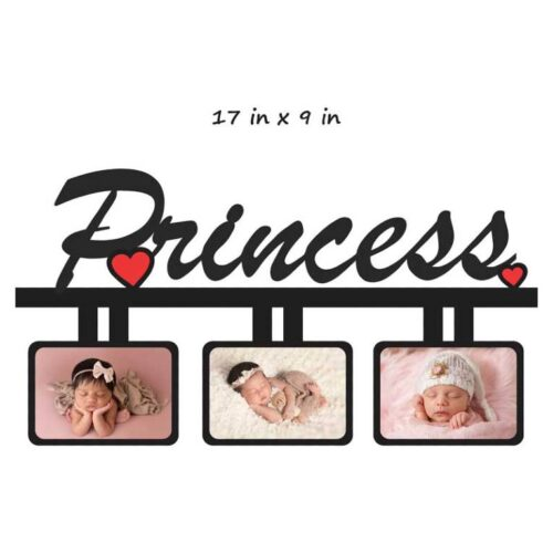 Customized Princess Photo Frame (Wooden) 17 In x 9 In