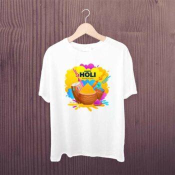 Family Holi White Tshirt