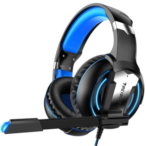 Fire Boltt BGH1000 Wired Headset Gaming Headphones with Microphone Light Surround Sound Bass Earphones for PS4 Xbox 1 Professional Gamer PC Laptop