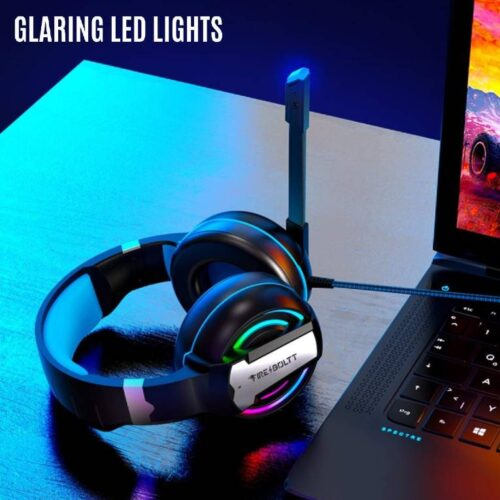 Fire Boltt BGH1000 Wired Headset Gaming Headphones with Microphone Light Surround Sound Bass Earphones for PS4 Xbox 1 Professional Gamer PC Laptop 8