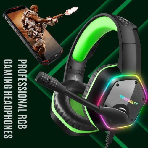 Fire Boltt BGH1300 Gaming Headset with 7 1 Surround Stereo Sound for PS4 PS5 PC USB Gaming Headphones with Noise Canceling Mic RGB Light Over Ear Headphones Compatible with PC PS4 PS5 Console 4