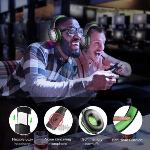 Fire Boltt BGH1300 Gaming Headset with 7 1 Surround Stereo Sound for PS4 PS5 PC USB Gaming Headphones with Noise Canceling Mic RGB Light Over Ear Headphones Compatible with PC PS4 PS5 Console 6