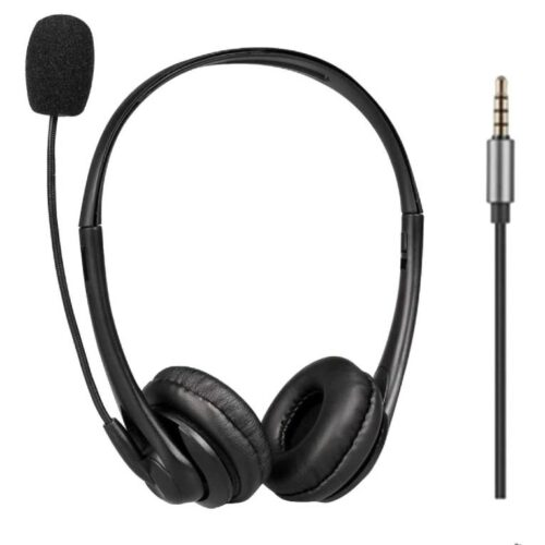 Fire Boltt BWH1000 Stereo Headphones with Noise Cancelling Microphone3 5 mm Dual Audio Jack PC Mac Laptop