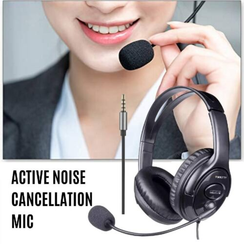 Fire Boltt BWH1100 Over Ear PC Headset with Stylish Headband Noise Cancelling mic and hd Sound Compatible with PC Mac Laptop 2