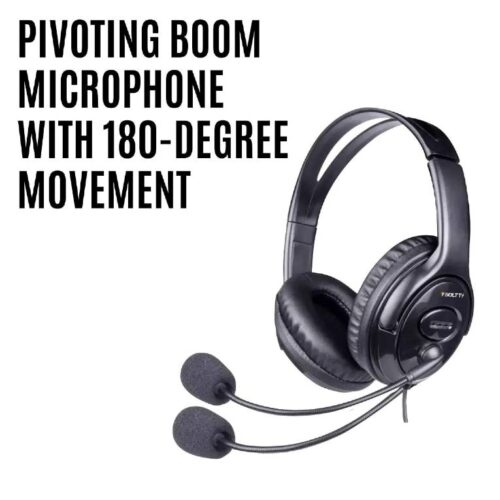 Fire Boltt BWH1100 Over Ear PC Headset with Stylish Headband Noise Cancelling mic and hd Sound Compatible with PC Mac Laptop 4