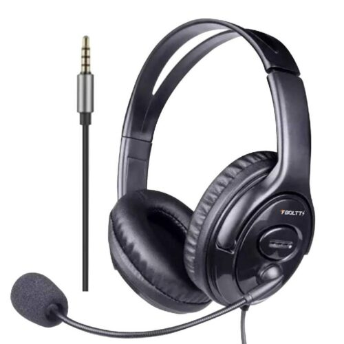 Fire Boltt BWH1100 Over Ear PC Headset with Stylish Headband Noise Cancelling mic and hd Sound Compatible with PC Mac Laptop