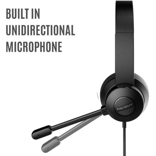 Fire Boltt BWH1200 Stereo Headphones with Noise Cancelling Microphone3 5 mm Dual Audio Jack PC Mac Laptop 1
