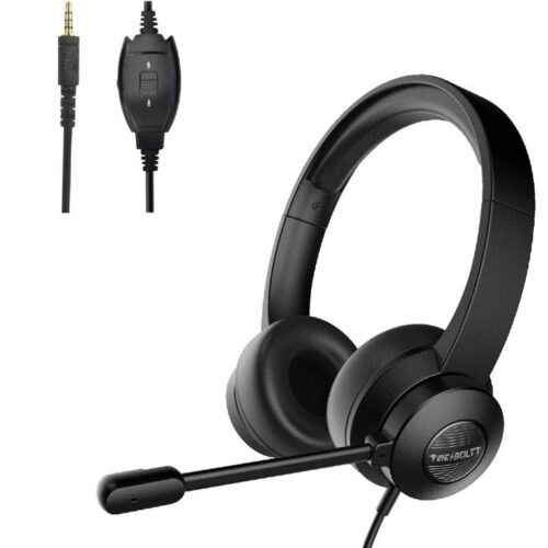 Fire Boltt BWH1200 Stereo Headphones with Noise Cancelling Microphone3 5 mm Dual Audio Jack PC Mac Laptop