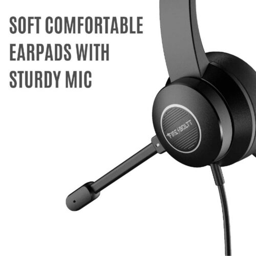 Fire Boltt BWH1200 Stereo Headphones with Noise Cancelling Microphone3 5 mm Dual Audio Jack PC Mac Laptop 6