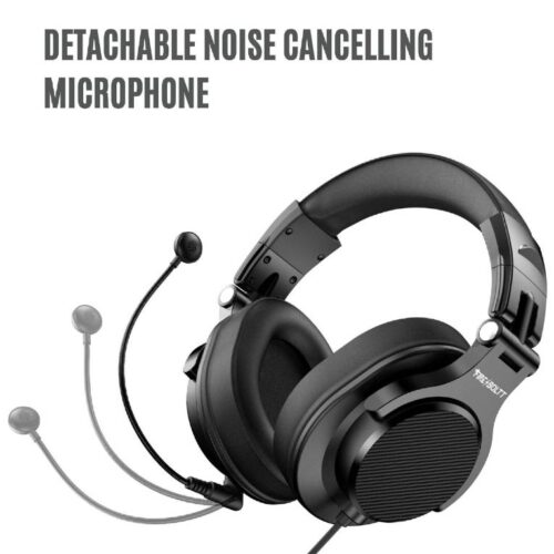 Fire Boltt BWH1300 PC Headsets with Boom Mic Office Over Ear Wired Headphones for Business Meeting Skype Call Centre Phone Laptop Gaming PS4 Xbox One Headsets with Volume Control and Share Port 1