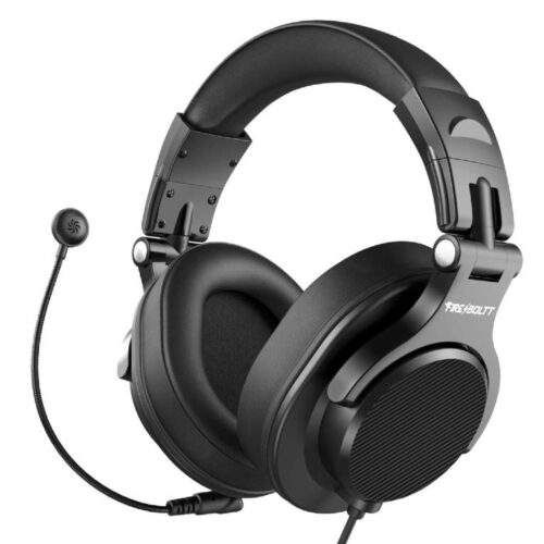 Fire Boltt BWH1300 PC Headsets with Boom Mic Office Over Ear Wired Headphones for Business Meeting Skype Call Centre Phone Laptop Gaming PS4 Xbox One Headsets with Volume Control and Share Port