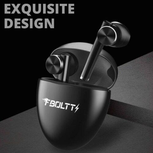 Fire Boltt Buds 1300 True Wireless Earbuds Sleek Design Full Smart Touch Control Bluetooth Earphones Water Resistant BT5 Black 3