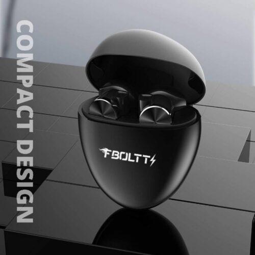 Fire Boltt Buds 1300 True Wireless Earbuds Sleek Design Full Smart Touch Control Bluetooth Earphones Water Resistant BT5 Black 5
