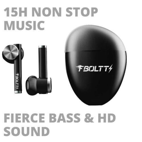 Fire Boltt Buds 1300 True Wireless Earbuds Sleek Design Full Smart Touch Control Bluetooth Earphones Water Resistant BT5 Black 6