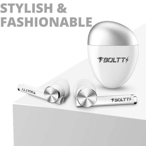 Fire Boltt Buds 1300 True Wireless Earbuds Sleek Design Full Smart Touch Control Bluetooth Earphones Water Resistant BT5 White 2