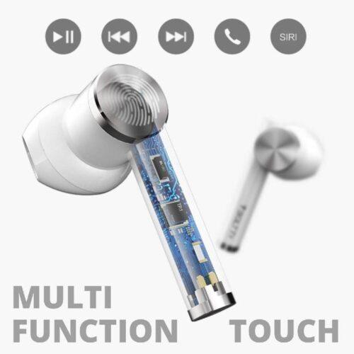 Fire Boltt Buds 1300 True Wireless Earbuds Sleek Design Full Smart Touch Control Bluetooth Earphones Water Resistant BT5 White 3