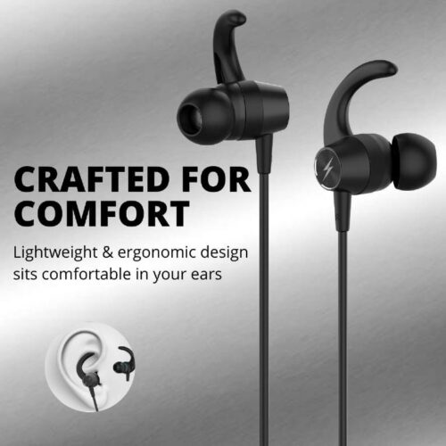 Fire Boltt Echo 1200 Bluetooth Neckband BT 5 0 Earphones Wireless Headsets with Voice Assistance with HD Stereo Sound Great Playtime Black 1