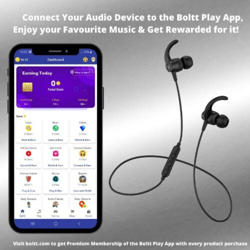 Fire Boltt Echo 1200 Bluetooth Neckband BT 5 0 Earphones Wireless Headsets with Voice Assistance with HD Stereo Sound Great Playtime Black 2