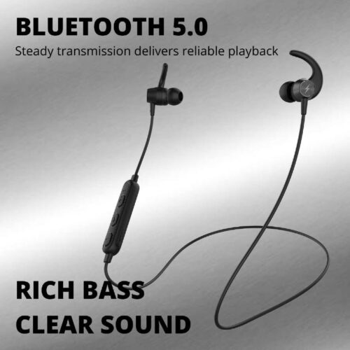 Fire Boltt Echo 1200 Bluetooth Neckband BT 5 0 Earphones Wireless Headsets with Voice Assistance with HD Stereo Sound Great Playtime Black 6