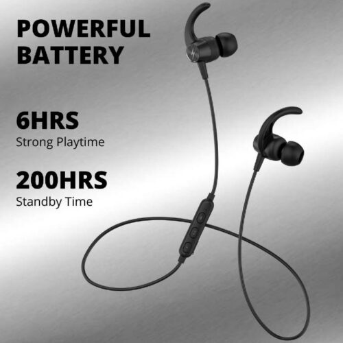 Fire Boltt Echo 1200 Bluetooth Neckband BT 5 0 Earphones Wireless Headsets with Voice Assistance with HD Stereo Sound Great Playtime Black 8