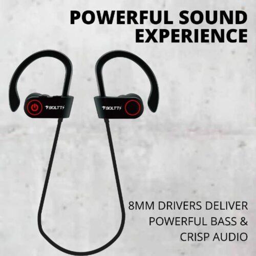 Fire Boltt Echo 1300 Bluetooth Earphone Wireless Neckband in Ear Headset with HD Calling Rich Bass Black 1