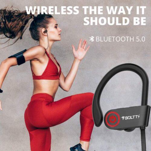 Fire Boltt Echo 1300 Bluetooth Earphone Wireless Neckband in Ear Headset with HD Calling Rich Bass Black 3