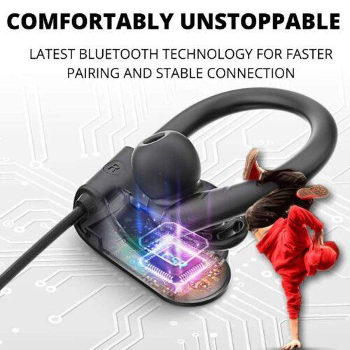 Fire Boltt Echo 1300 Bluetooth Earphone Wireless Neckband in Ear Headset with HD Calling Rich Bass Black 5