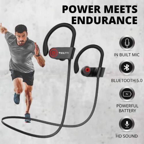Fire Boltt Echo 1300 Bluetooth Earphone Wireless Neckband in Ear Headset with HD Calling Rich Bass Black 6