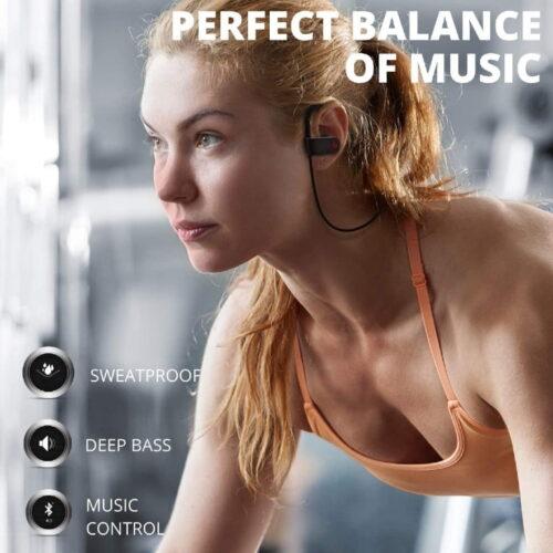 Fire Boltt Echo 1300 Bluetooth Earphone Wireless Neckband in Ear Headset with HD Calling Rich Bass Black 7